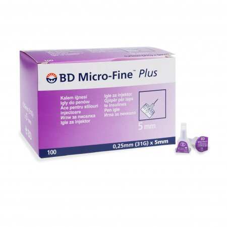 BD Micro-Fine PLUS 0,25 x 5 mm